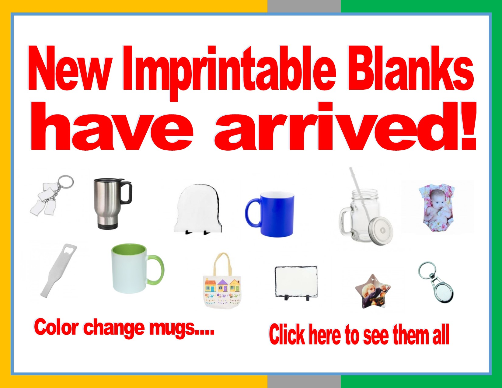 Check our all our new blanks - click here!
