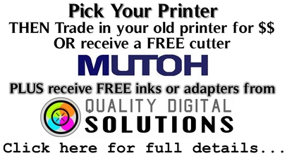 Mutoh's Pick your Promo Specials and a FREE Gift from Quality Digital Solutions